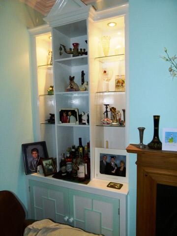 edwardian alcove cabinets