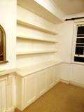 London fitted made to measure floating shelves