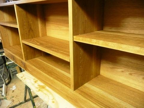 walnut shelving